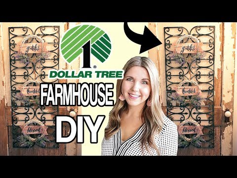 Dollar Tree Wall Decor ⭐ DIY Farmhouse Wall Art
