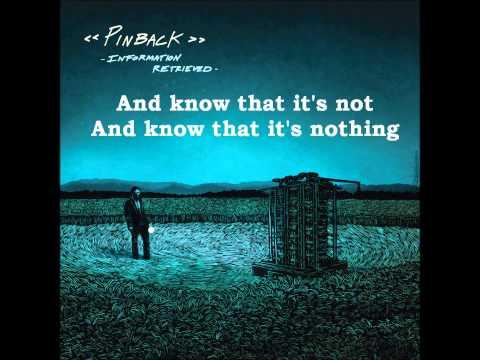 Pinback  - True North + Lyrics on screen (HQ)