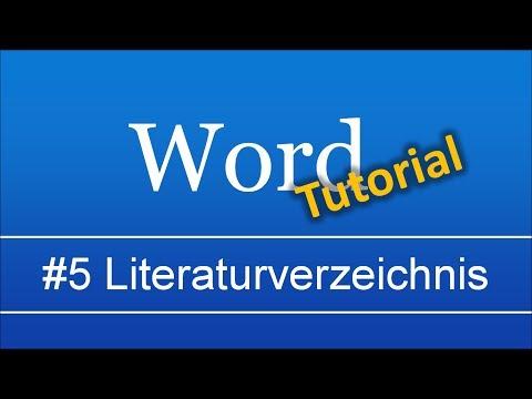 Abschlussarbeit In Word (#5): Zitate, Literaturverzeichnis