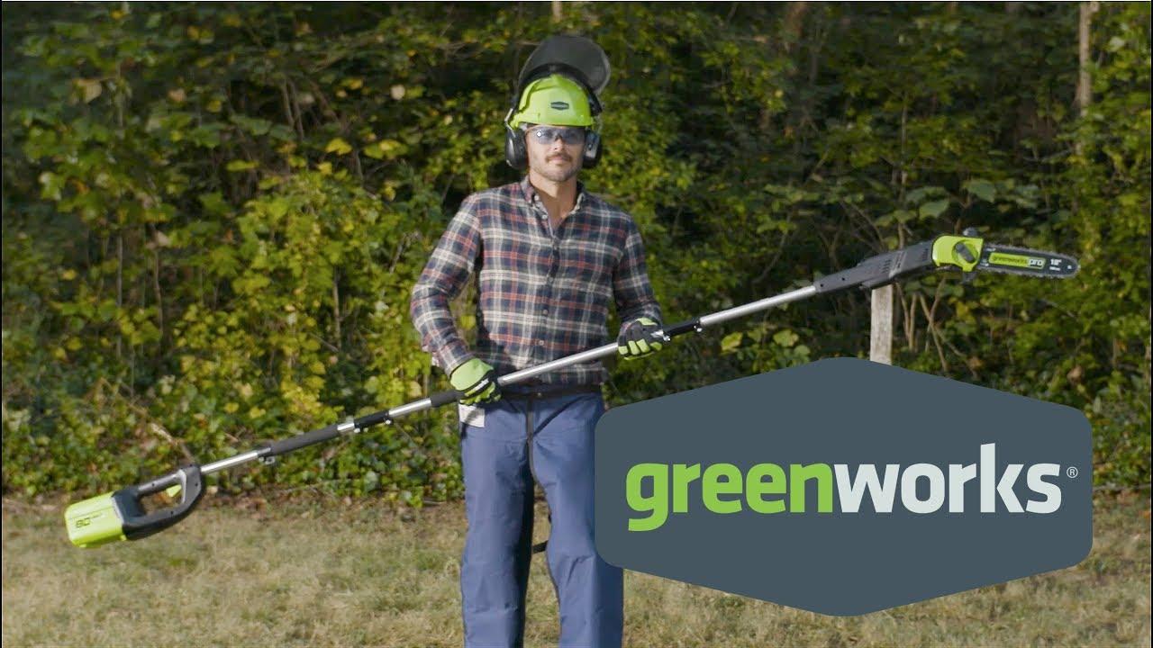 Greenworks 80-Volt, 10-Inch Pole Saw