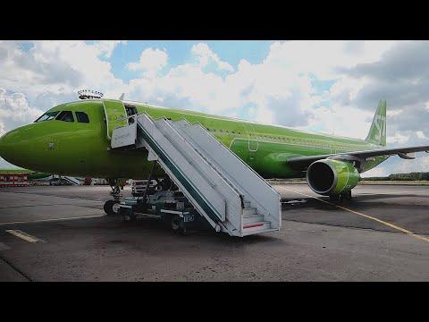 Взлет из Домодедово A321 S7 Airlines | Рейс Москва - Симферополь