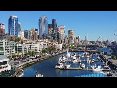 Seattle Waterfront Tour 2015 Downtown Marina Washington State Ferries