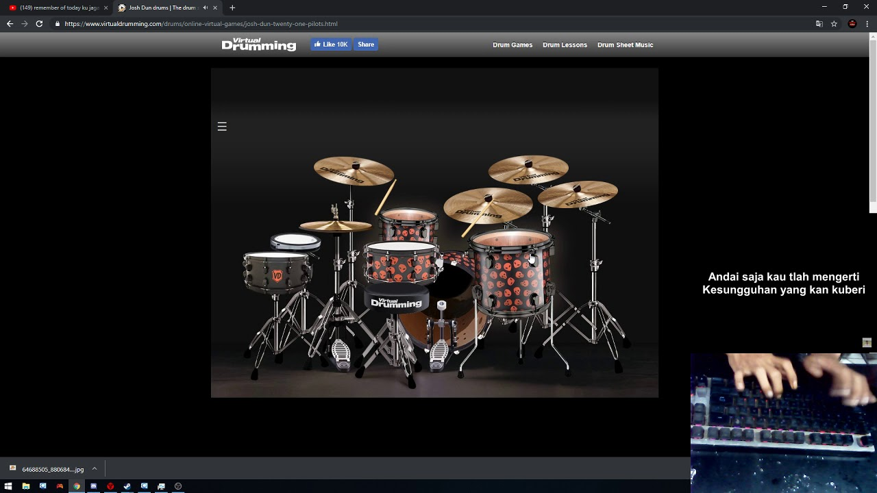 Virtual drum - Remember of today cover rere