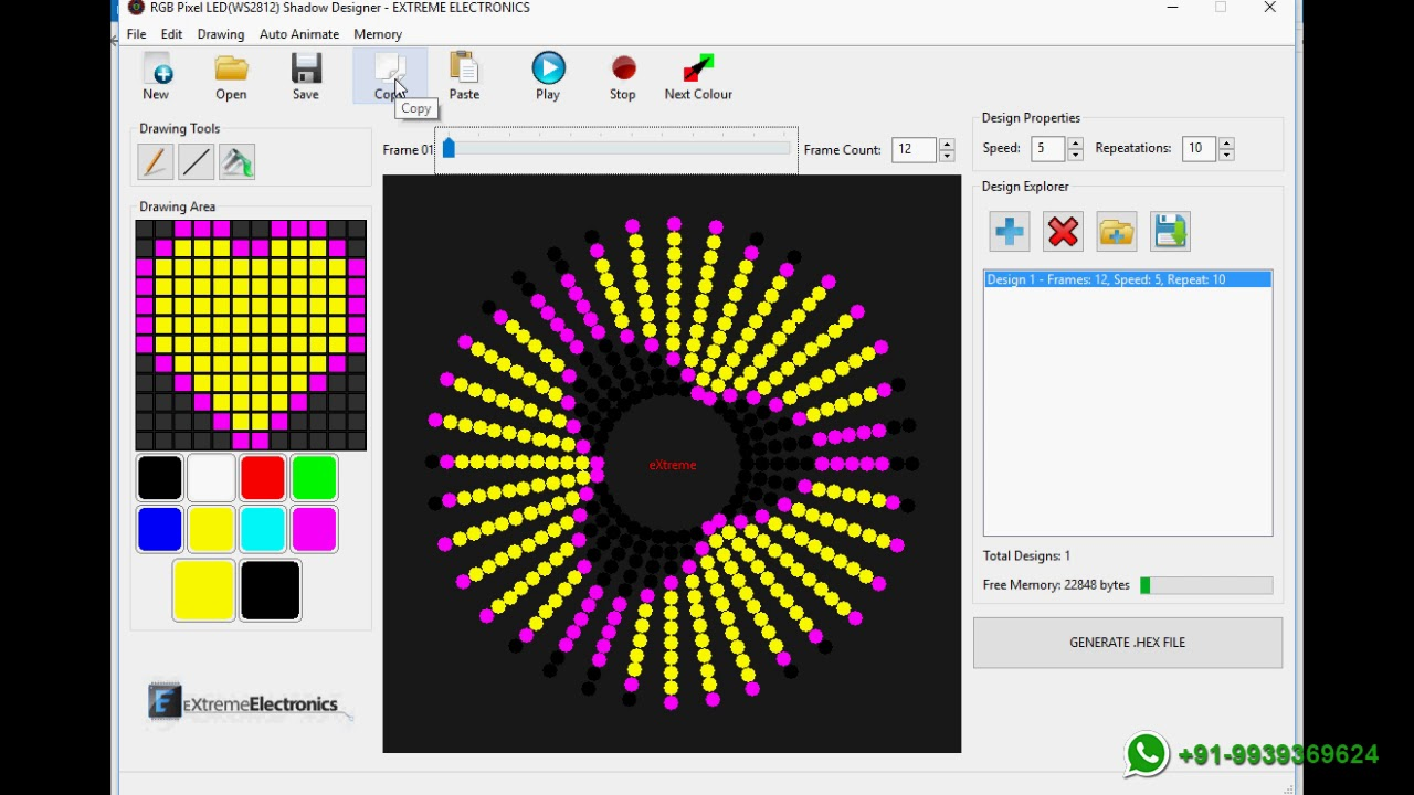 Pixel Led Circle Chakri Animation Details Youtube