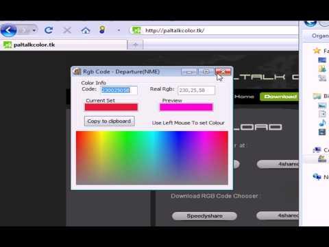Paltalk Color 2010 - Color Your Nick Online For Free