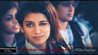 Priya prakash varrier viral song funny video watch every single boy story .  gautam nain