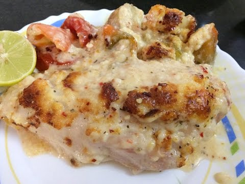 Cheese Garlic Baked Chicken Recipe | Easy To Make | My Kitchen My Dish