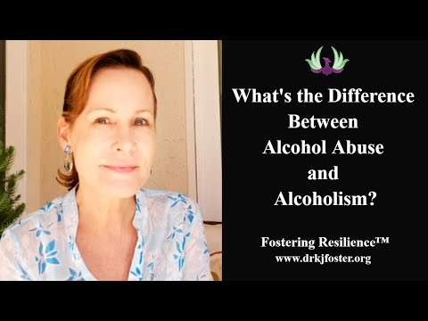 What's the difference between alcohol abuse and alcoholism