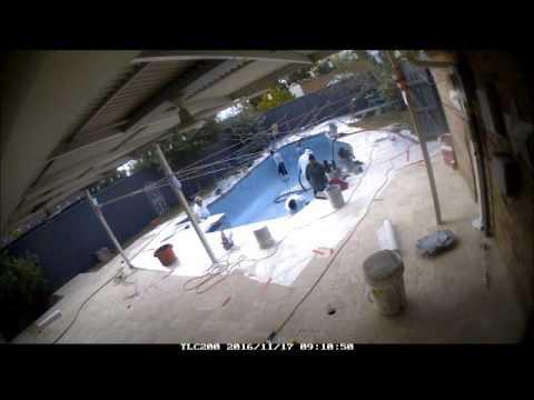 Time lapse pool renovation w/Darren Kesler of ASPDALLAS.COM