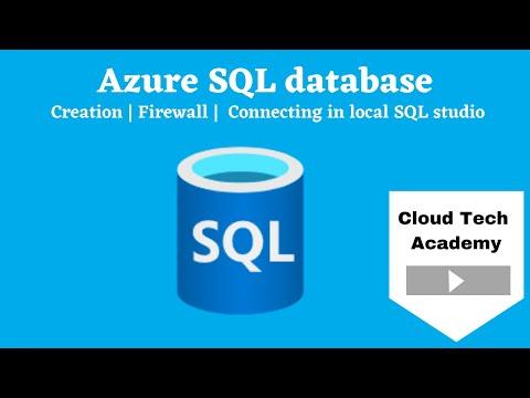 Azure SQL database | server | firewall | DTU |Vcores |connecting in SQL management studio
