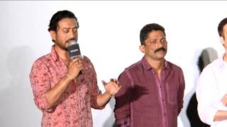 SONG LAUNCH OF 'DAMA DAM' FROM MADAARI WITH IRRFAN KHAN & NISHIKANT KAMAT