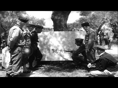 Commanding officer of British, American and French army plan for the drive on Rom...HD Stock Footage