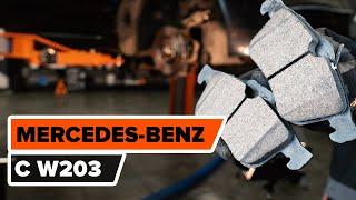 Kaip pakeisti Stabdžių Kaladėlės MERCEDES-BENZ C-CLASS (W203) - internetinis nemokamas vaizdo