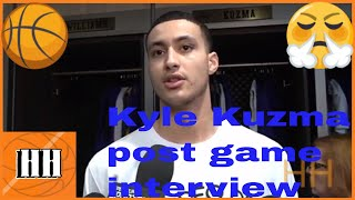 Kyle Kuzma and Luke Walton Lakers vs Warriors post game interview | Hoop Highlights