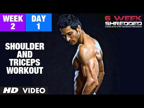 Week 2: Day 1 – Shoulder, Triceps and Upper Abs Workout | Guru Mann 6 Week Shredded Program
