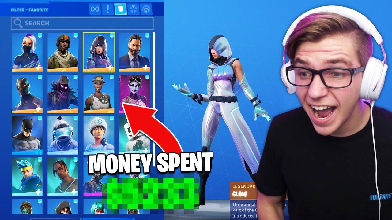 I *EXPOSED* how much MONEY I've spent on Fortnite ...