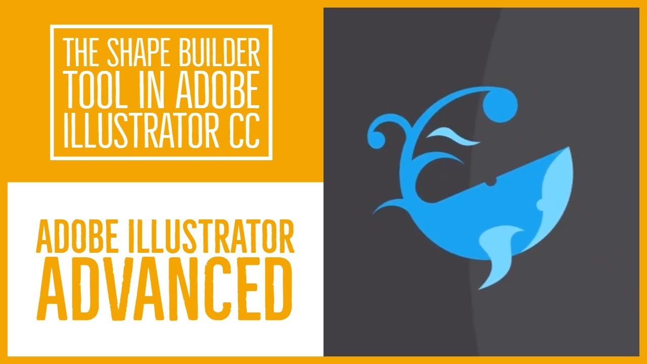 The shape builder tool in Adobe Illustrator CC - Illustrator Advanced Training [8/53]
