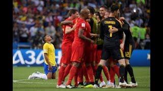 BELGIUM 2-1 BRAZIL   NEYMAR SENT HOME   WORLD CUP QUARTER FINAL REACTION