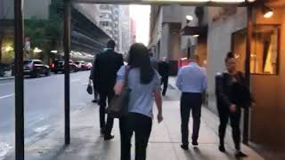 Saks fifth avenue security detained shop lifter then assault camera man