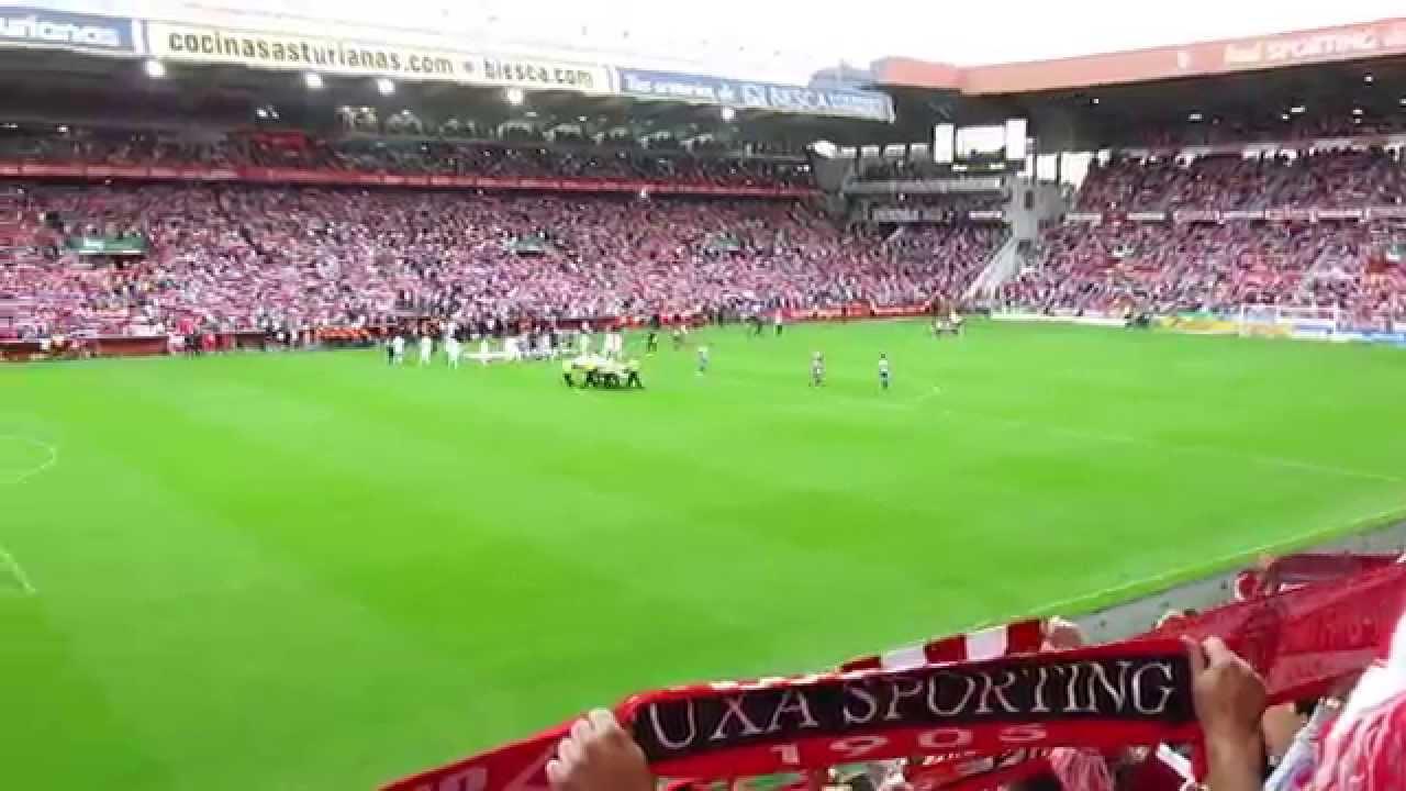 Himno del sporting de gij n en el molin n sporting real madrid agosto 2015 youtube - Estadio del sporting de gijon ...