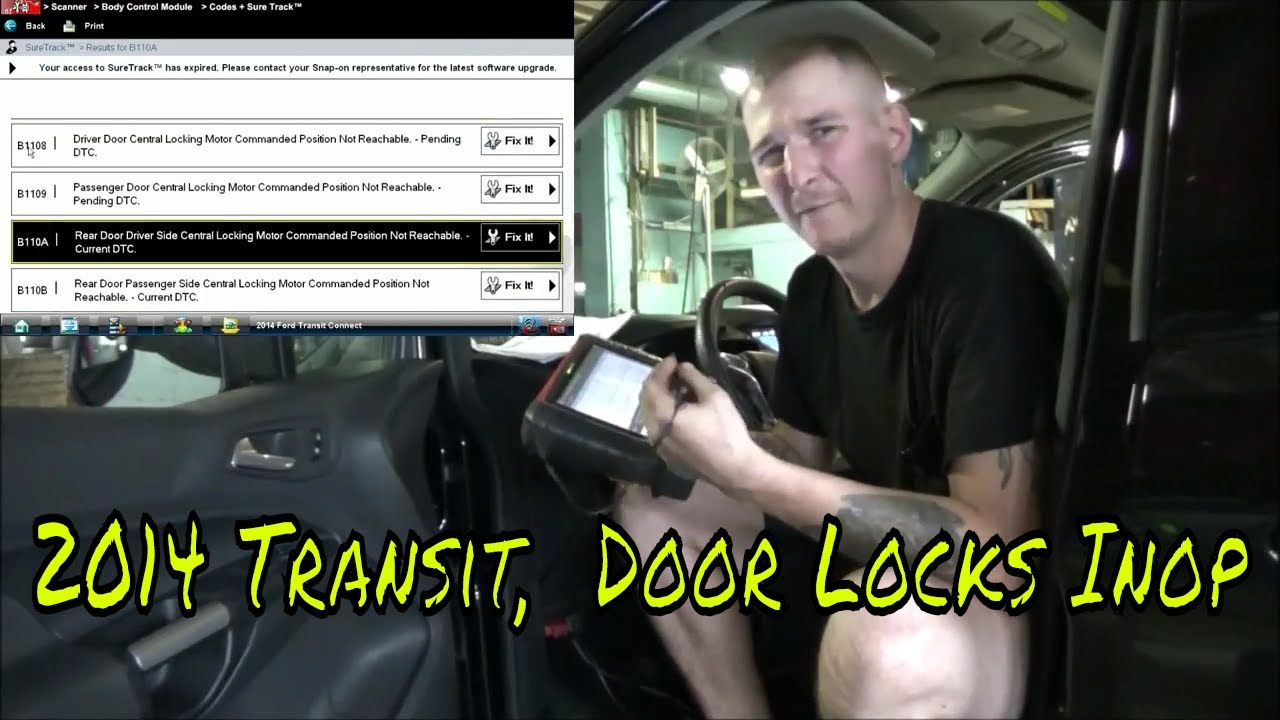 medium resolution of 2014 ford transit door locks inop