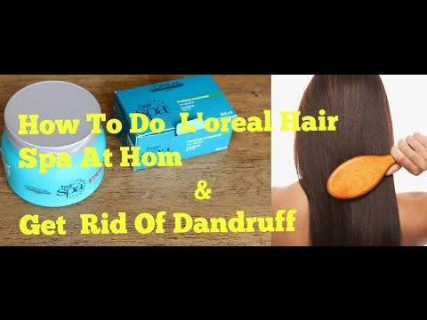 How To Use Loreal Hair Spa At Home & Get Dandruff Free Hair|Loreal Cream Bath
