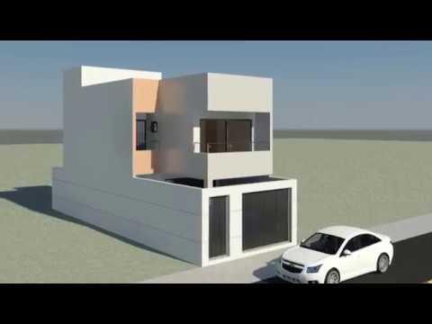 Planta sobrado moderno doovi for Casa moderna 6 00 m x 9 00 m 2 pisos interior