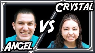 Angel VS Crystal - Pie to the Face Arcade Challenge