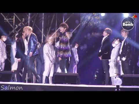 [中字][BANGTAN BOMB] BTS stage greeting the New Year @MBC 가요대제전 2016