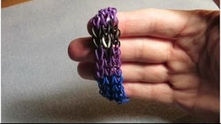 How to make an Evil Minion rainbow loom bracelet - Tutorial / Pattern