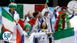 Hilarious Team Italy at ISU World Team Trophy 2012