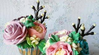 Веточки вербы из шоколада для декора тортиков.