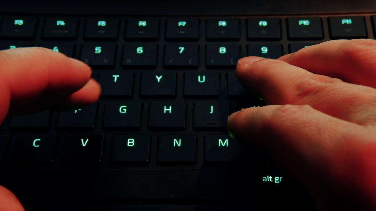 Razer Blade Advanced 2019 Keyboard Typing Test