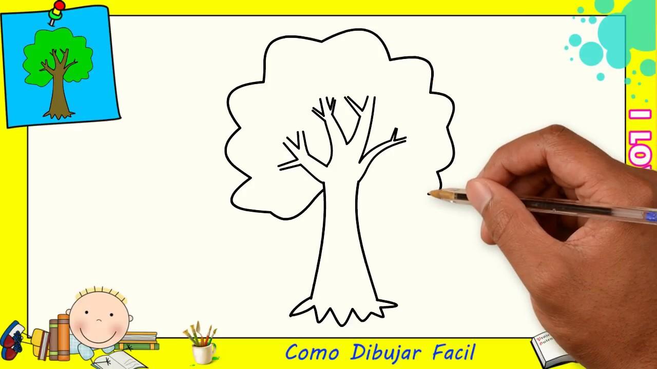 Como Dibujar Un árbol Facil Paso A Paso Para Niños Y Principiantes 1