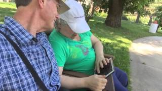 Selfie video - Me helping LuAnne play Mahjong in the Garden