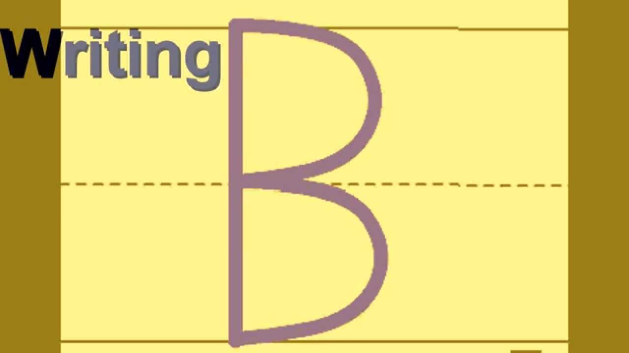 how to write english alphabets
