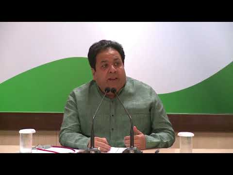 AICC Press Briefing By Rajeev Shukla at Congress HQ, September 20, 2017