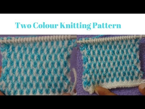 Two Colour Sweater Design 2 Colour Knitting Pattern Baby Girls