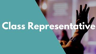 Become a Class Representative