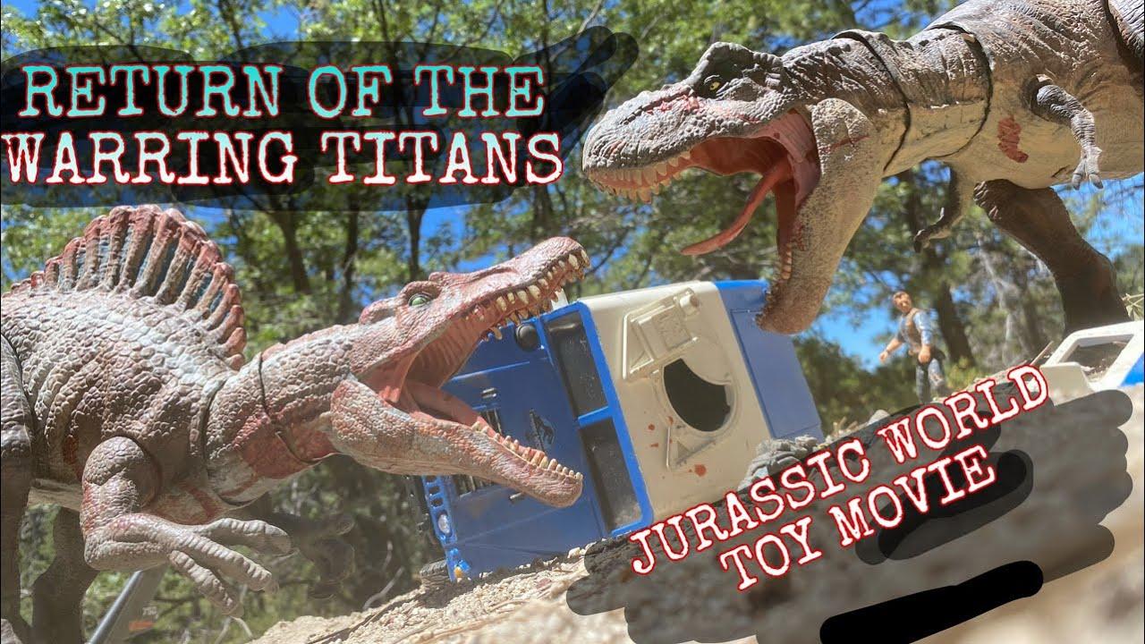 JURASSIC WORLD TOY MOVIE: RETURN OF THE WARRING TITANS !!