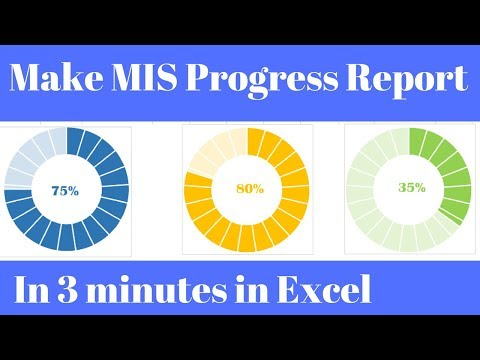 MIS Report In Excel Progress Chart