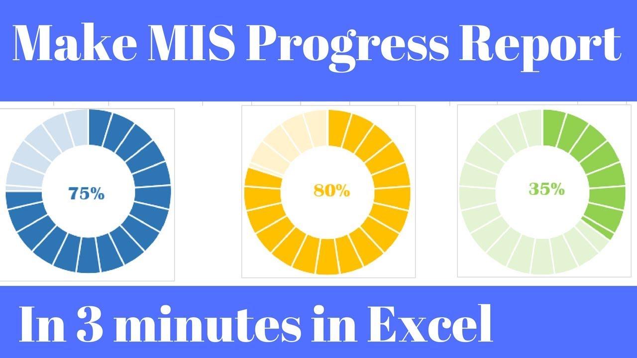 MIS Report in Excel Progress Chart - YouTube