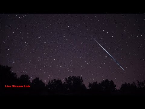 The Perseid Meteor Shower August 12-10 in 4k - Live Stream Link