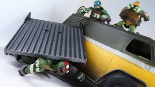 Customizing Tutorial Repainting TMNT 2015 Party Wagon Video Review