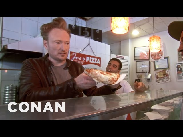 Conan Makes NYC Pizza - CONAN on TBS