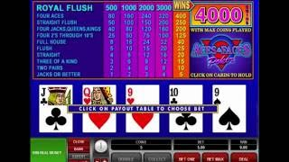 ACES & FACES VIDEO POKER online free casino SLOTSCOCKTAIL microgaming