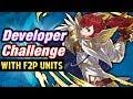 Fire Emblem Heroes - All Developer Challenge Maps w/F2P Units!