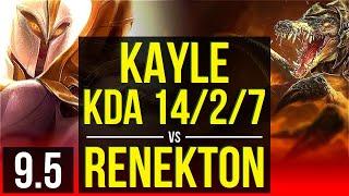 KAYLE vs RENEKTON (TOP) | KDA 14/2/7, Legendary | EUW Master | v9.5