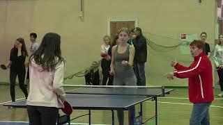 Соревнования по настольному теннису  среди школьников и студентов