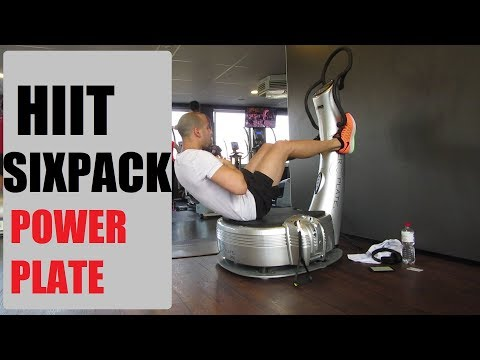 12 Minutes HIIT Workout SIXPACK with Power Plate Fat burning / HIIT ABS 2018 get fast fit exercise